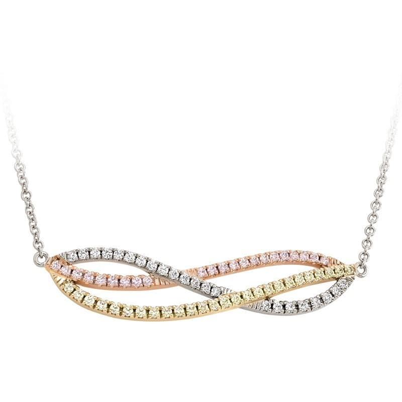 Affinity Multi-Colored Diamond and Gold Necklace
